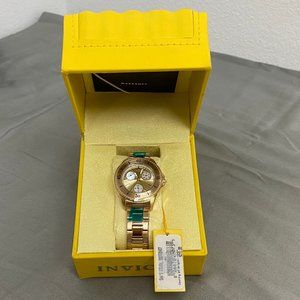 Invicta Angel Yellow Gold-tone Dial Ladies Watch